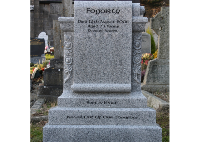 Granite Scroll Headstone