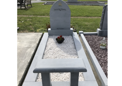 Limestone Gothic Headstone